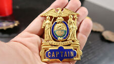 r EARLY New York Excelsior Police Hat Badge