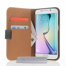 Caseflex Accesorios Samsung Galaxy S6 Borde Real Cartera De Cuero teléfono Funda Protectora