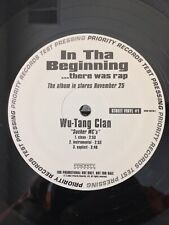 IN THA BEGINNING....there was rap 1997 TEST PRESSING PRIORITY RECORDS PROMO LP-