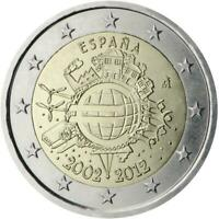 2 euro Spagna 2012 UME decennale unione monetaria