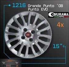4 original murama 1216 tapacubos para 15 pulgadas llantas Fiat Grande Punto Evo 08 rojo
