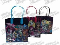 Monster High Party Favor Supplies Goody Loot Gift Bags [12ct]