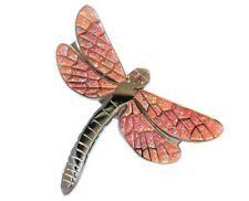 Stunning Pink & Orange Glitter Dragonfly Metal Enamel Pin Badge Brooch 30mm NEW