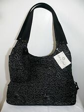 Donna Sharp Black Pearl Quilted Shoulder Handbag Purse & Cell Phone Case NWT