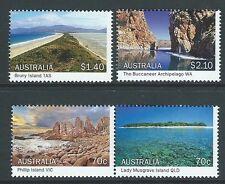 AUSTRALIA 2015 ISLANDS OF AUSTRALIA SET OF 4  UNMOUNTED MINT, MNH