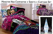 9piece Girls MONSTER HIGH Full/Double COMFORTER+SHEETS+CURTAINS SET Bed in a Bag