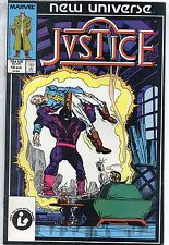 Marvel Comics Justice #10 August 1987 New Universe VF