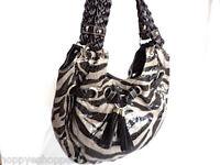 GAL belted shoulder bag tote animal print black gray snake croco tassel large
