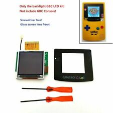 GBC Nintendo Game Boy Color Backlight Backlit LCD Screen Mod Kit BRIGHT + TOOLS!
