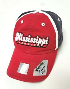 Mississippi State Ole Miss Rebels Ball Cap Hat NCAA University Deluxe Ladies Cut