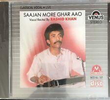 Saajan More Ghar Aao - Rashid Khan - Vocal Live - CD.  NEW. STILL SEALED.