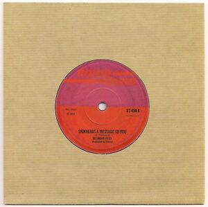 REGGAE 45 - DESMOND RILEY - SKINHEADS A MESSAGE TO YOU - N/MINT - 2006 REISSUE