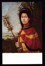 vintage art by Dampier Sister of Kamehameha III royalty Honolulu Hawaii postcard