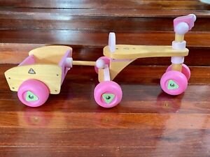 Wooden Pink Trike with Trailer - Early Learning Centre, Excellent condition