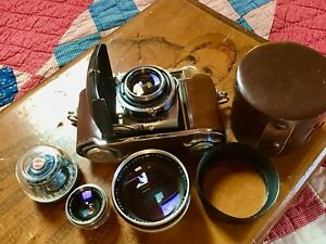 Kodak Retina IIIc 3-Lens ( SCHNEIDER-KREUZNACH) 35mm Camera Outfit Germany