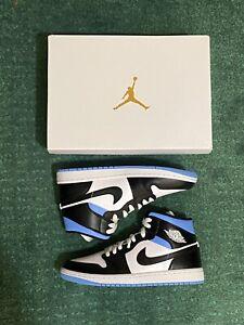 FREE SHIP! Air Jordan 1 Mid 'University Blue White Black' Size 9.5W (BQ6472-102)