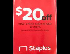 Staples.Com Coupon $20 Off $60 Online Order Ex 8/22/20 Sent Asap Office Ink+