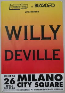 WILLY DEVILLE original promo poster LIVE 26.04.1993 Italy (BA.124)