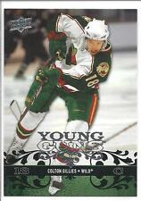COLTON GILLIES 2008-09 Upper Deck YOUNG GUNS Rookie Card RC #224
