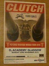 Clutch + Planet Of Zeus, Tijuana Bibles - Glasgow nov.2015 concert gig poster