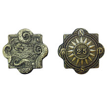 """Norse Foundry RPG D20 Adventure Coins """"25"""" Gold Piece Set of 10 Pirates Treasure"""