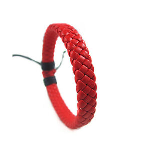 Men Woven Rope New Charm Leather Brown Bracelet Women Bangle Jewelry Wristband