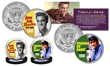 ELVIS PRESLEY First/Last Movies JFK Half Dollar 2-Coin Set OFFICIALLY LICENSED