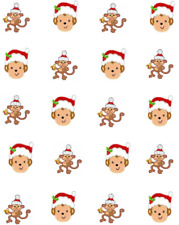 Christmas Monkeys  Waterslide Nail Decals/Nail art