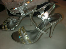Womens Ladies Metaphor Silver Jeweled HOPE Sandals Shoes 9 M New Store Display
