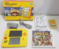Nintendo 2DS Super Mario Maker Nintendo 3DS System Console Bundle Yellow/Red 4GB