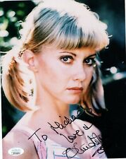 OLIVIA NEWTON JOHN HAND SIGNED 8x10 COLOR PHOTO    GORGEOUS    TO MICHAEL    JSA