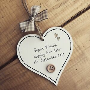Wedding Gifts Keepsake Plaque Wooden Bridal Christmas Favour Sign Personalised