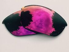ENGRAVED POLARIZED POSITIVE RED MIRROR REPLACEMENT OAKLEY HALF JACKET 2.0 LENSES