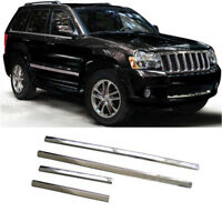 ABS Chrome Body Door Side Molding Trim Garnish For Jeep Grand Cherokee 2005-2009