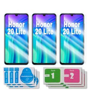 3x Huawei Honor 20 Lite Schutzglas 9H Echtglas Panzerfolie Displayschutz