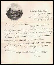 1940 - Canadian Pacific Hotels - Victoria B C - Empress Hotel - Letter Head Rare