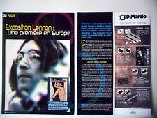 "COUPURE DE PRESSE-CLIPPING : JOHN LENNON [4pages] 2005 Exposition ""Unfinished"""
