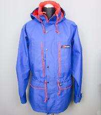 VINTAGE Berghaus Gore-Tex Giacca M 40 Blu Rosso Terrazza TRANGO Cappotto GEMINI anni'80