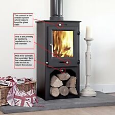 80% efficient Ottawa 5kw STAND Multi-fuel Woodburning Stove Stoves Log Burner