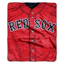 Boston Red Sox 50x60 Plush Raschel Throw Blanket - Jersey Design [NEW] MLB