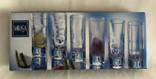 Mikasa Cheers Shot Glasses 6 Clear Glass 2oz New Other