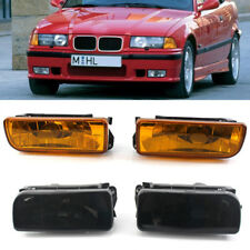 Front Bumper Fog Lights Holder w/ Smoked Lens For BMW E36 3 Series 3S 1992-1998