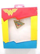 "DC Comics Wonder Woman Logo Girl's Necklace w/16"" Chain New"