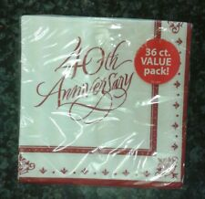 40TH RUBY ANNIVERSARY NAPKINS SERVIETTES VALUE BRAND NEW IN PACKAGING PARTY