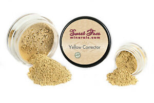 YELLOW CORRECTOR Concealer Mineral Makeup Bare Skin Natural Powder Full Cover