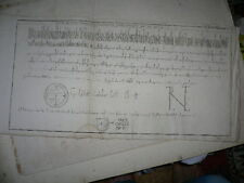 gravure bulle pape Pascal II bulla pontifacalis bolla papale Pasquale 69/26,5 cm