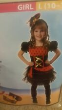 Girl's Dainty Pirate Costume Halloween Size L (10-12)