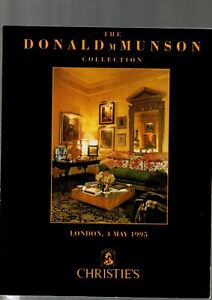 THE DONALD M MUNSON COLLECTION  CHRISTIES CATALOGUE LONDON 4 MAY1995 EX