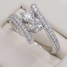 FOREVER US 2 STONE LOVE RING  1.00 CARAT SI1/HCOLOR DIAMOND 18 KT WHITE GOLD