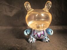 """Custom 3"""" Kidrobot Agent K Dunny by Rsin Clear Resin Head 1/1 Rare Exclusive Blu"""